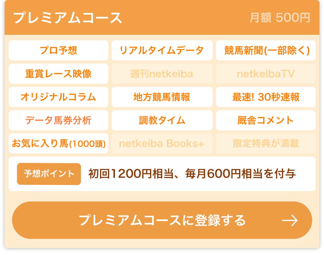 プレミアムコース 月額 500円 初回1200円相当のポイント付与 さらに毎月600円相当のポイント付与