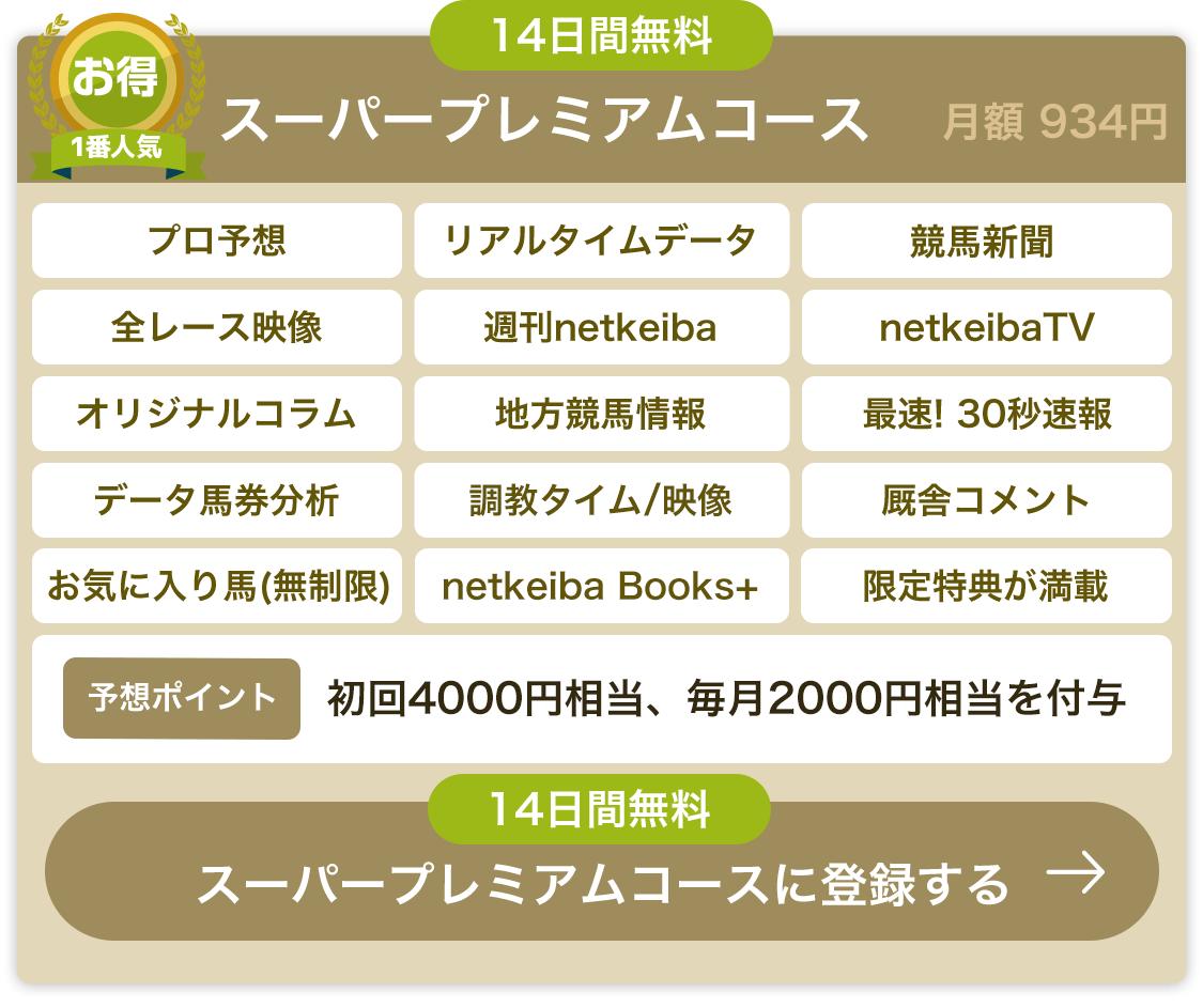 スーパープレミアムコース 月額934円 初回4000円相当のポイント付与 さらに毎月2000円相当のポイント付与